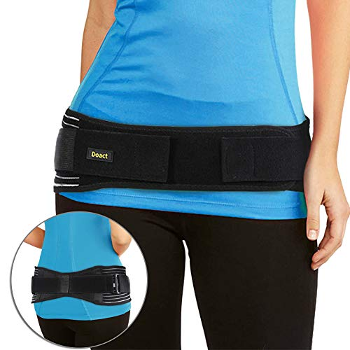 "Belt for Low Back Support Women and Men, Adjustable SI Joint Belt for SI Joint Pain Relief, SI Brace for Hip and Sciatica Pain, Sacroiliac Joint Belt Pregnancy (S/M (28"" – 42"")) ()"