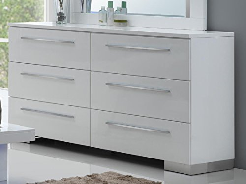 NCF Furniture Saturn Dresser in White Lacquer High Gloss (Saturn Drawer)