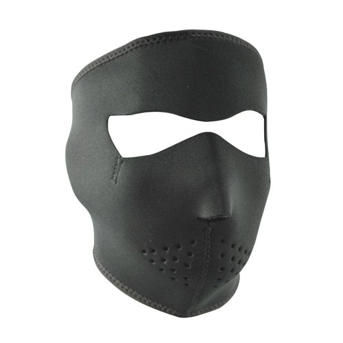 ZANheadgear Neoprene Full Face Mask, Microfleece Lining, Black - Neoprene Motorcycle Face Mask