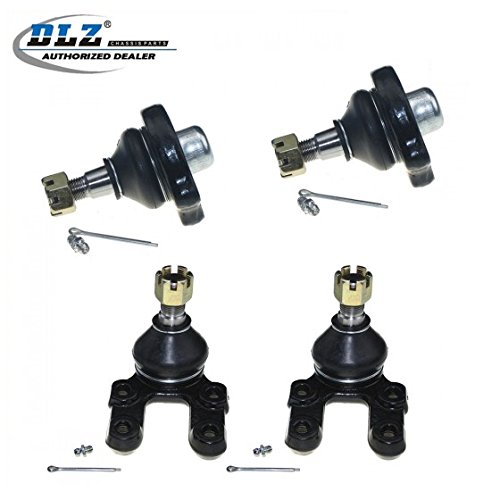 DLZ 4 Pcs Front Suspension Kit-2 Lower 2 Upper Ball Joint Compatible with 1983-1986 720 4WD, 1986-1994 D21 4WD, 1987-1995 Pathfinder, 1995-1997 Pickup 4WD K9022 K9347