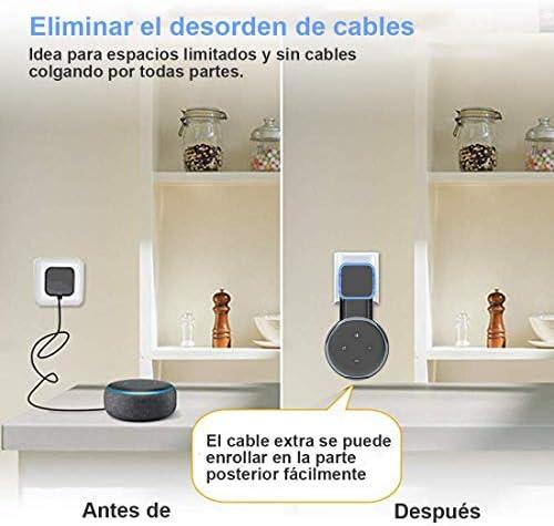 Echo Accesorios, Soporte para Estuche de Montaje en Pared Echo Dot Soporte Funda Protectora para Amazon Echo Dot (3ra generación) Accesorios Que ahorran Espacio para Altavoces domésticos sin Cables ni Tornillos (Negro) 6