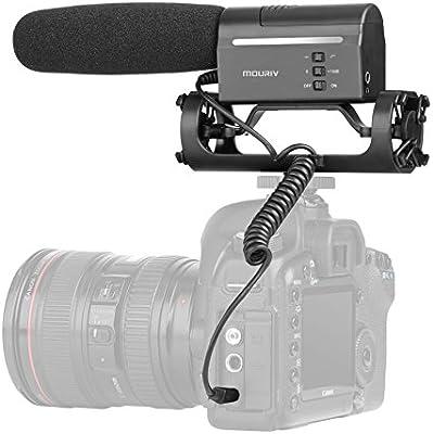 Mouriv VMC355 Video Condenser Shotgun Micrófono Fotografía ...