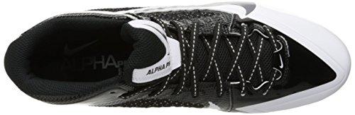 Nike Herren Alpha Pro Mid Fußballschuh Schwarz / Metallic Silber / Weiß