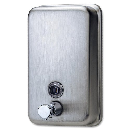 Genuine Joe GJO02201 Stainless Steel Manual Soap Dispenser, 31.5 fl oz -