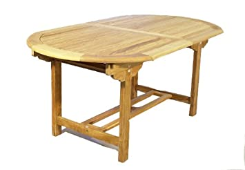 Divero Tisch Gartentisch Holz Teak Holztisch 170 230 Cm Massiv