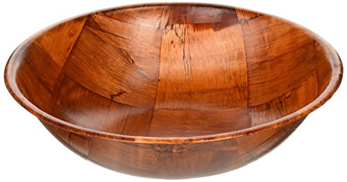 Winco WWB-10 Wooden Woven Salad Bowl, 10-Inch ()