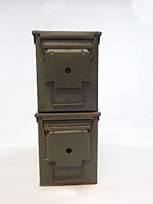 Amazon.com   Military .50 Cal Ammo Steel Storage Cans (empty boxes ... 3d5138b1d09