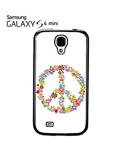 Peace Sign Flower Summer Mobile Cell Phone Case Samsung Galaxy S4 Mini Black
