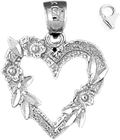 JewelsObsession Sterling Silver 29mm Angel 3-D Charm w//Lobster Clasp