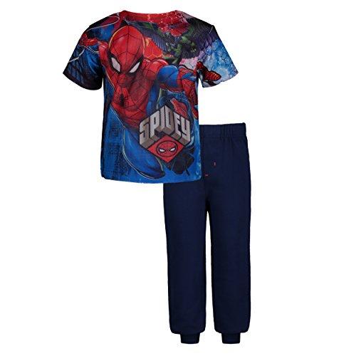 (Marvel Avengers Spiderman Toddler Boys' Mesh T-Shirt & French Terry Pants Clothing Set (3T))