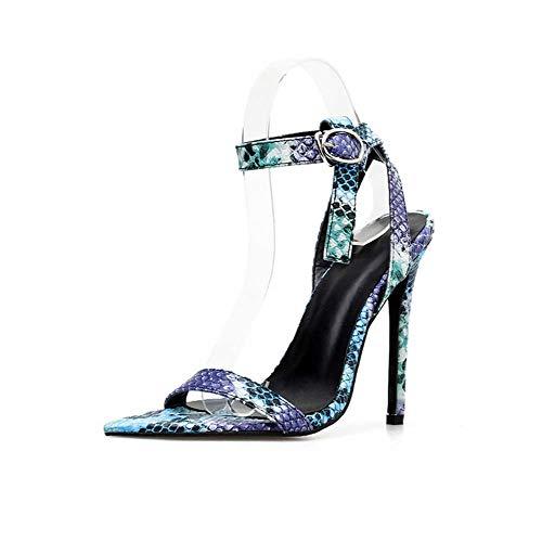 Abren Purple Mujeres Zapatos Altos Tacones De Fiesta Dedo Baile Las Pie Puntiagudos Tobillo Sandalias Del Ghfjdo El Noche qEBSnxA