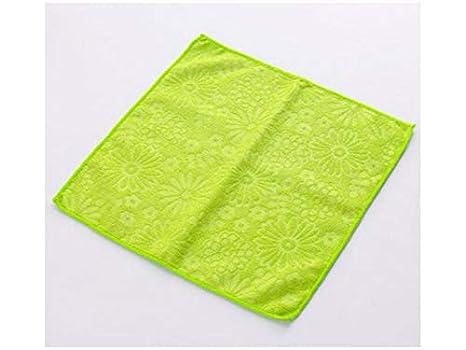 Ari_Mao Absorbent Toallas de Microfibra multifunción Toallas de Limpieza Paño de Cocina (Verde) (