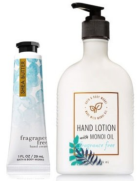 Bath and Body Works 2 Pack Fragrance Free Hand Lotion With M
