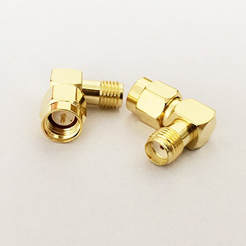 2pcs SMA Male to Female Right Angle 90-Degree RF Adapter GoldPlated USA Shipping -