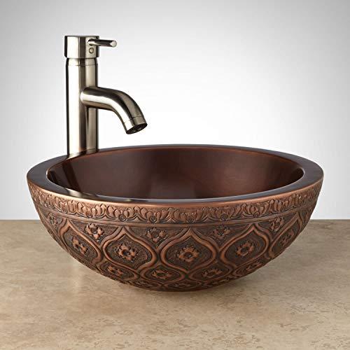 "Signature Hardware 346795 Nilofar 14"" Copper Vessel Bathroom Sink"