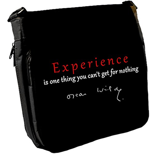 Experience is one - Oscar Wilde Unisex Umhängetasche