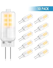 GLIME G4 LED Bulbs 3W Replace 10W-25W Halogen Bulbs No Flicker Warm White 3000K AC/DC 12V Energy Saving Light Bulbs Non-dimmable - 10 Pack