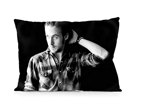 Rechzng Li Ryan Gosling Pillowcase Both Sides Print Zipper Throw Pillows Covers 20x30 Inches