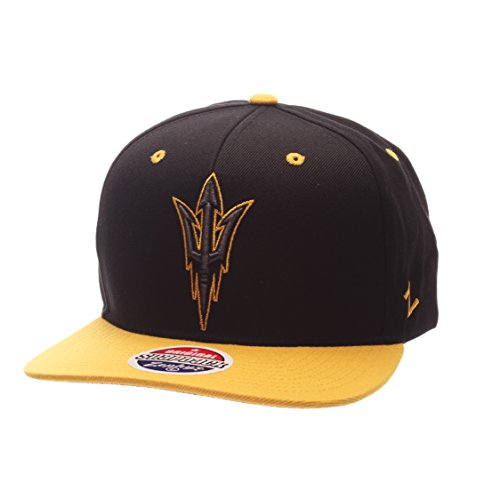Sun State Arizona Devils Cap (Zephyr NCAA Arizona State Sun Devils Adult Men's Z11 Phantom Snapback Hat, Adjustable Size, Black/Team Color)