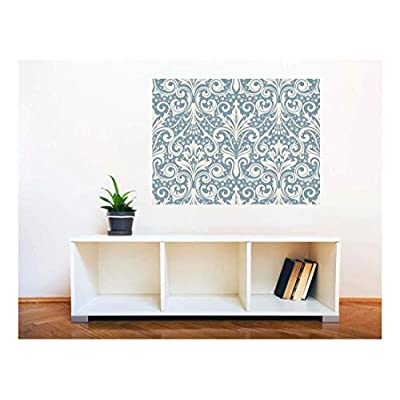 Astonishing Style, it is good, Removable Wall Sticker Wall Mural Seamless Floral Pattern Creative Window View Wall Decor