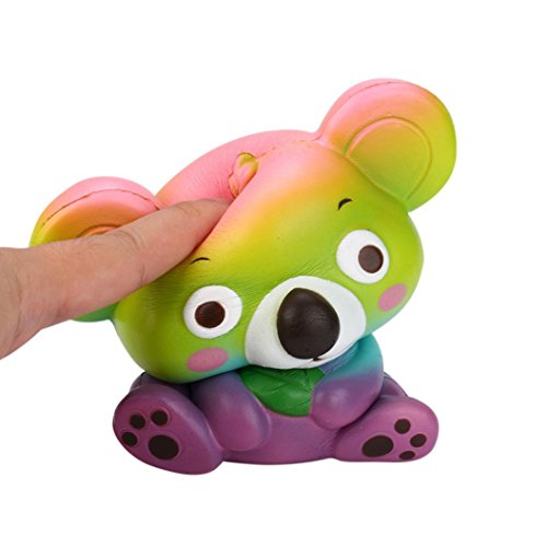 Tootu New 12cm Cute Koala Cream Scented Squishy Toy Slow Rising Squeeze Strap Kid Toy (Multicolor)