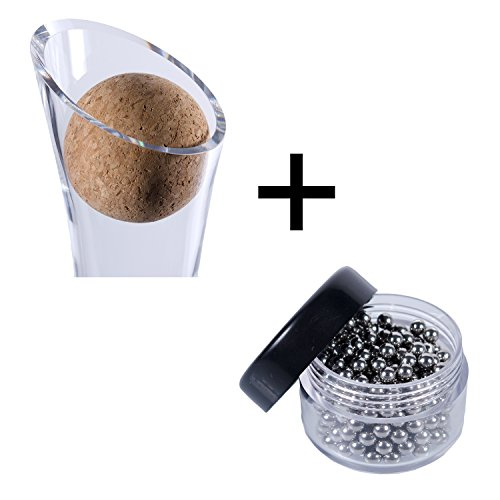 Wine Decanter Cork Stopper & Stainless Steel Cleaning Beads Accessories by Plaisir de la Cave