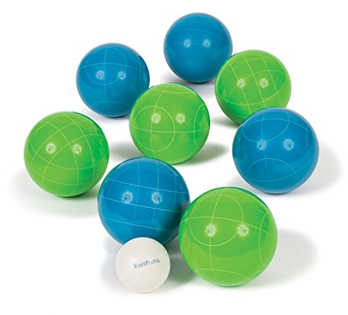 EastPoint Sports 90mm Resin Bocce Set with Molded Case - Blue/Green