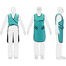 X Ray Protection Lead Apron 0.25mm Lead Equivalent New Type Sea Green with Collar