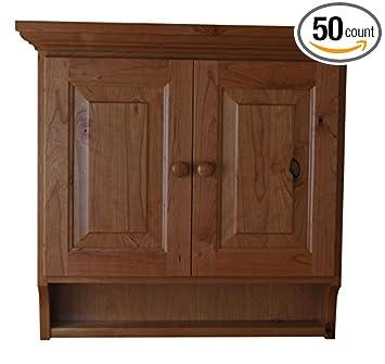 Amazon.com: Wood Medicine Cabinet Solid Oak Wood, 2 Adjustable ...