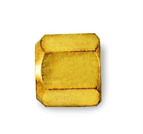 C&D Valve CD2235 1/4 Flare Cap, Brass hex w/Neoprene o-Ring Seal (Pack of 25) by C&D Valve