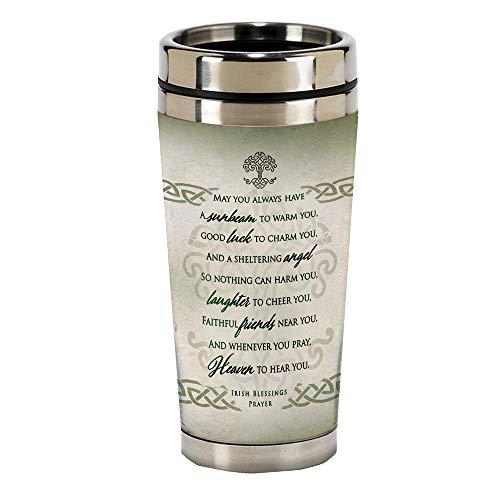 Irish Prayer 16 Oz Stainless Steel Travel Mug with Lid