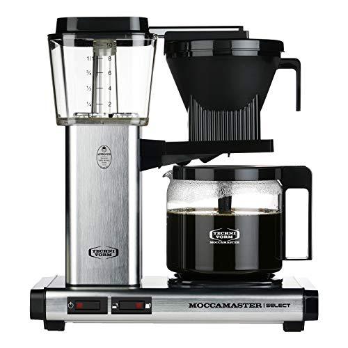 Moccamaster KBG Select Cafetera de filtro, 1520 W, 1.25 litros, Aluminio, Plata cepillada