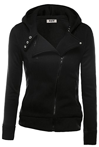 [해외]DJT Womens Casual Oblique 지퍼 후드 티 자켓/DJT Womens Casual Oblique Zipper Hoodie Jacket Coat