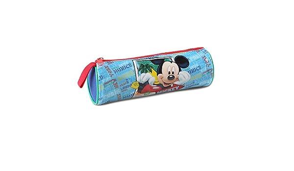 Atosa-33235 Disney Estuche Niño Mickey de Tubo, Color Celeste, 21,5 x 7,5 cm (33235): Amazon.es: Juguetes y juegos