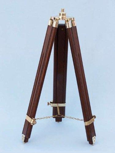 Hampton Nautical  Floor Standing Brass/Wood Harbor Master Telescope, 50'', Brass by Hampton Nautical (Image #8)