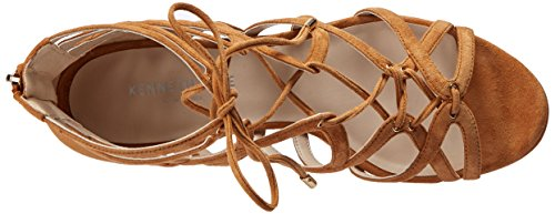 Kenneth Cole New York Donna Dylan Sandalo Con Zeppa Umber Scamosciato
