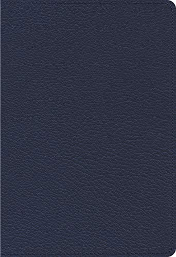ESV Heirloom Single Column Personal Size Bible (Goatskin, Blue)
