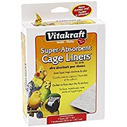 "20"" x 18"", Super Absorbent Cage Liners for Birds, 7-Pack"