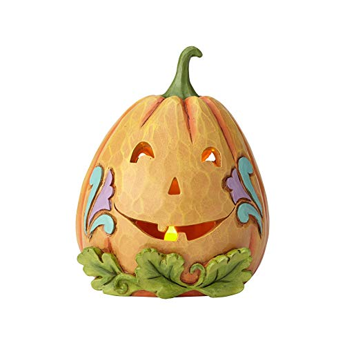 Enesco Jim Shore Heartwood Creek Two-sided Lited Jack-o-lantern]()