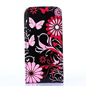 DUR Black Butterfly Pattern PU Leather Full Body Case for Samsung Galaxy S5 Mini