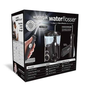 Waterpik Ultra Water Flosser Combo, Black - Model WP-112/WP-462 (pack of 2) by Waterpik