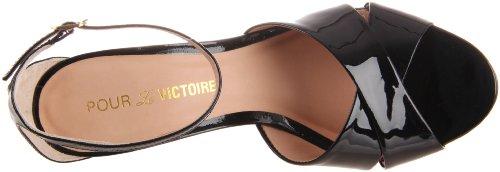 Per La Vittoria Kalinda, Damen Fashion-sandalen Schwarz (brevetto Nero)