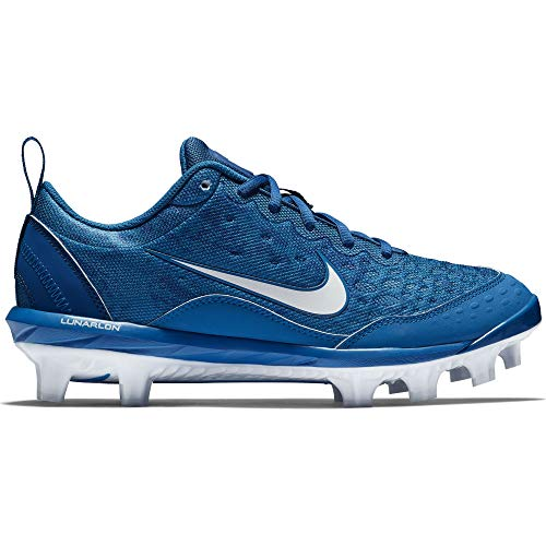 Nike Women's Hyperdiamond 2 Pro MCS Softball Cleat Gym Blue/White/Military Blue Size 8.5 M US