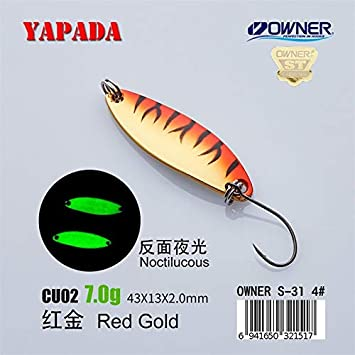 1X 7g-42g 4#//2# Hook Metal Spoon Fishing Lures Bass Baits Metal Fishing Tackle