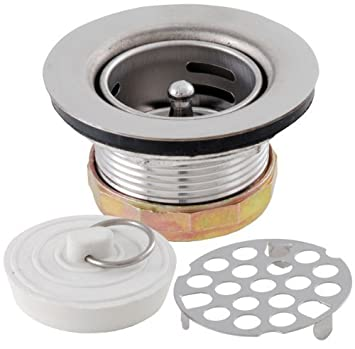 LDR 501 1800 Three in One Bar and Prep Sink 2\'\' Drain Set Stainless ...