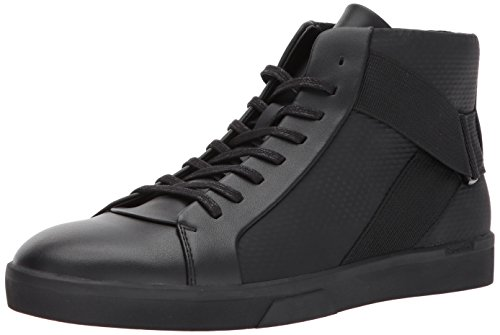 Calvin Klein Men's Irvin Brushed Leather/Tammy Fashion Sneaker, Black, 10 M US