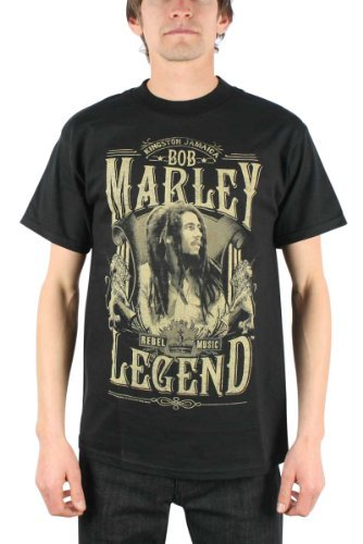 Bob Marley Tee Shirts - T-shirt - Bob Marley - Rebel Legend XL, Black