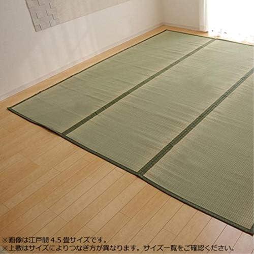 ◇インテリア関連 おしゃれ◇純国産 い草 上敷き カーペット 双目織 本間3畳(約191×286cm)