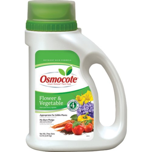 Slow Release Plant Food - Osmocote 277860 Flower and Vegetable Smart-Release Plant Food, 14-14-14, 4.5-Pound Jug