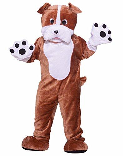 Forum Deluxe Plush Bulldog Mascot Costume, Brown, One Size - Dog Costumes Men
